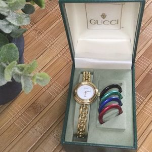 JUST IN Vintage Gucci Interchangeable Bezel Watch